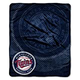 MLB Minnesota Twins Raschel Plush Throw Blanket, Retro Design