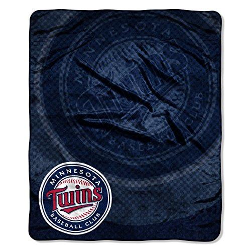 MLB Minnesota Twins Raschel Plush Throw Blanket, Retro Design