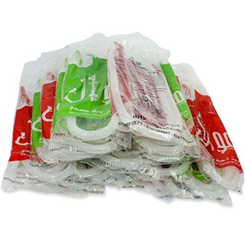 25 Lot Healthy Hose Disposable Hookah Shisha Hose Nargile Sterile Huka Pipe 60'' by Healthy-Hose