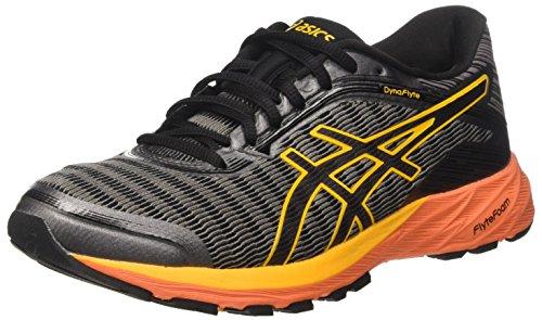 Asics Dynaflyte, Zapatillas de Running para Hombre Gris (Carbon/black/jaune Citrus)
