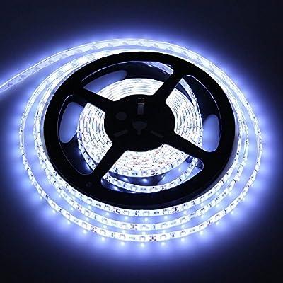 CMC LED Light Lamp LED Flexible Strip Light 12V 3528 SMD 5M 300 LEDs White Pack of 1