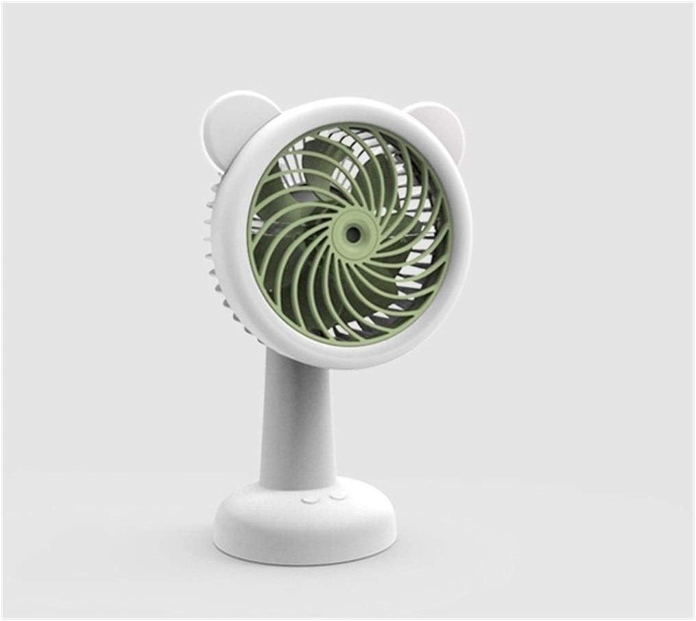 Color : Blue Air Cooling Fan Mini USB Fan Desktop Handheld Personal Fans Fashion Pure Color Fan 3 Speed 7 Blade Table Fan