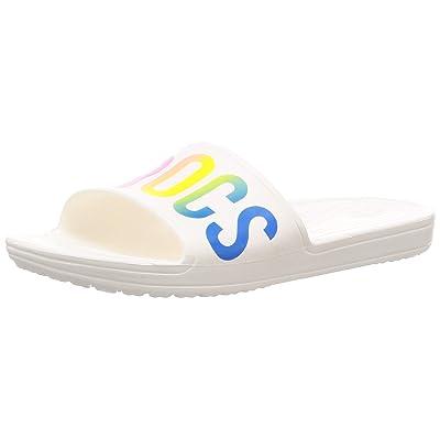 Crocs Women's Sloane Logo Mania Slide Sandal | Sport Sandals & Slides