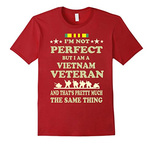 Mens Memorial Day Gift Veteran's Day Vietnam Veteran T Shirt 2XL Cranberry