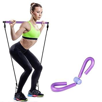 BLWX LY Práctica de Yoga portátil Pilates Stick, Yoga ...