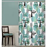 Owl Shower Curtain Maytex Owl Fabric Shower Curtain