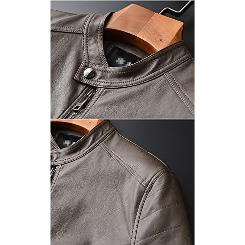 a9e1c63b925a 耐久モデリング レザージャケットメンズ革ジャンアウター立つ襟防風防雨防寒上品ライダース