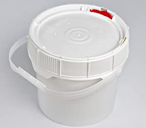 Life Latch 1.25 GAL Screw TOP Food Grade Bucket-6 Pack