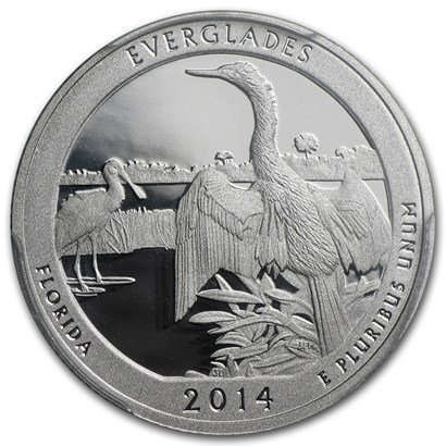 2014 S America the Beautiful Florida Everglades Proof Quarter PF1