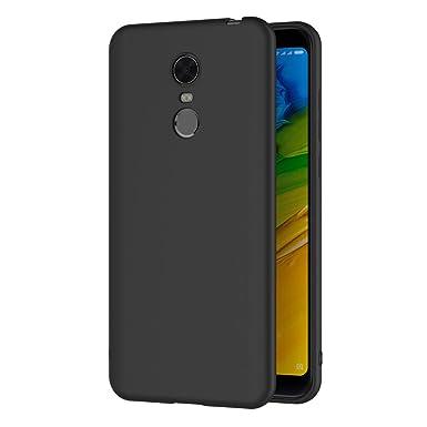 new arrival c11f2 17332 AICEK Xiaomi Redmi 5 Plus Case, Black Silicone Cover for Xiaomi Redmi Note  5 Black Case (5.99 inch)