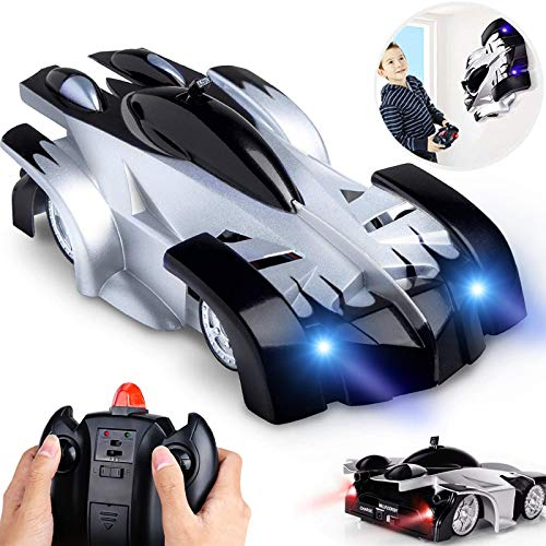 RC Cars for Kids, Wall Climbing Remote Control Cars for Boys, Girls USB Radio Controlled Electric Vehicles Rechargable Gravity Toy Race Cars with 360 Rotating Stunt, LED Lights & Dual Mode Mini RC Car