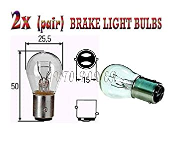 Change Broken Rear Stop Tail Brake Bulbs 380 12V P21//5W Long Life Mot Reg