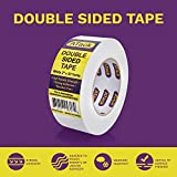 "ATack Double-Sided Tape White, 2"" x 30 Yards, Heavy Duty Double Sides self Sticky Wall Fabric Tape for Wood Templates, Furniture, Leather, Curtains and Craft"