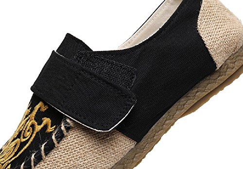 Loafer Crown Shoe Slip Embroidery Oxfords Tianrui Men's Espadrilles on Flat pxgWSTq