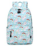 Abshoo Cute Lightweight Kindergarten Backpacks For Girls Unicorn Kids School Bags (Sky Blue)