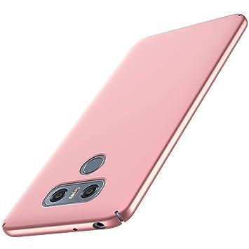Anccer Funda LG G6 [Serie Colorida] [Ultra-Delgado] [Ligera] Anti-rasguños Estuche para Carcasa LG G6 (Oro rosa liso)