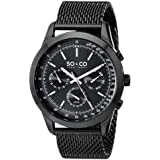 So&Co New York Men Black Dial Stainless Steel Band Watch - 5006A.3, Analog Display