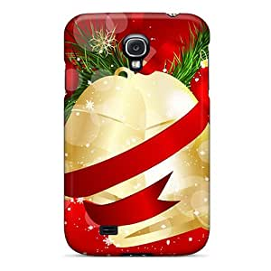 Case Cover Protector For Galaxy S4 Christmas And Happy New Year Christmas Bells Case