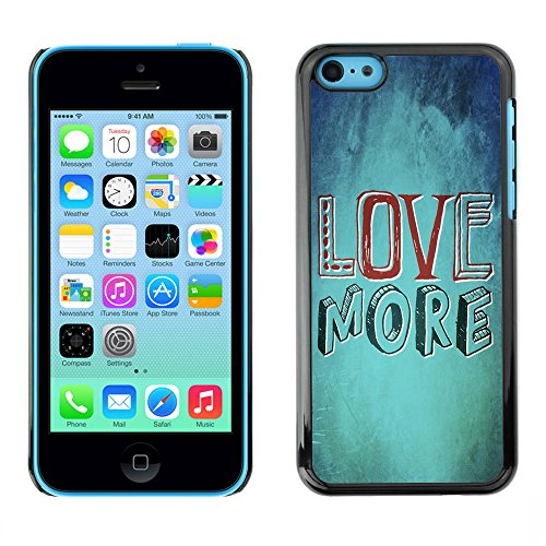 DREAMCASE Citation de Bible Coque de Protection Image Rigide Etui solide Housse T¨¦l¨¦phone Case Pour APPLE IPHONE 5C - LOVE MORE