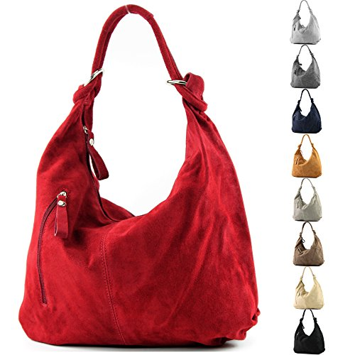 bag hobo 337 Silber women's handbag bag bag bag leather metallic Italian qR1TUanq