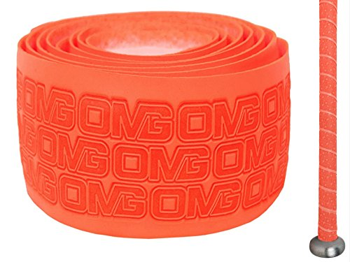 Oh My Grips OMG Premium Cushioned Hand Grip Wrap, Great for All Bats and Racquets; Baseball, Softball, Tennis, Badminton, Cricket, Even Ping-Pong Paddles! (Orange)
