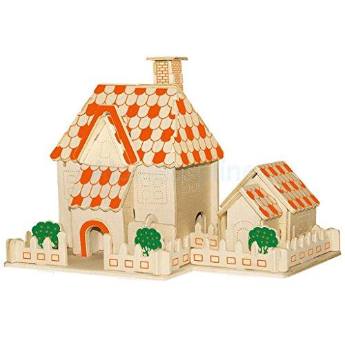 3D Jigsaw Puzzles Wooden Model Art Crafts Kids Toys Gifts DIY Sunshine - Hut Sunshine