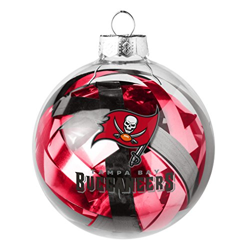 Ornaments Tampa Glass Buccaneers Bay (NFL Tampa Bay Buccaneers Large Tinsel Ball Ornament)