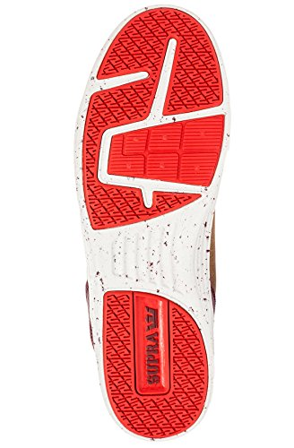 Supra Mens Vaider Lite Sneaker Chocolat / Caoutchouc / Gris Clair