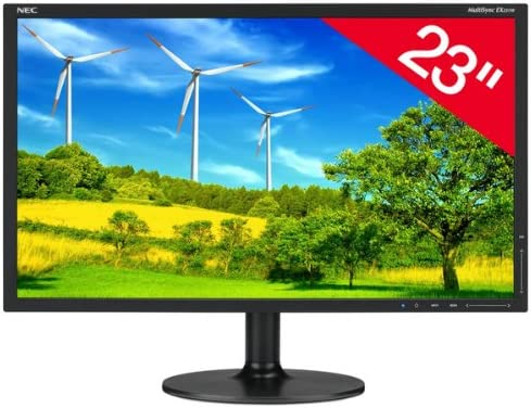 NEC Multisync EX231WB 23 inch LCD TFT Monitor (DVI-I/DisplayPort/USB, 1920 x 1080, 1000:1, 5ms, 250cd/m2) - Black