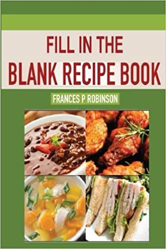 fill in the blank recipe book blank recipe book to write favorite