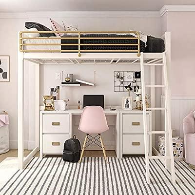 Little Seeds Monarch Hill Haven White Single Pedestal Kids Desks,