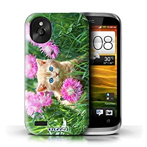 KOBALT? Protective Hard Back Phone Case / Cover for HTC Desire X | Garden Design | Cute Kittens Collection