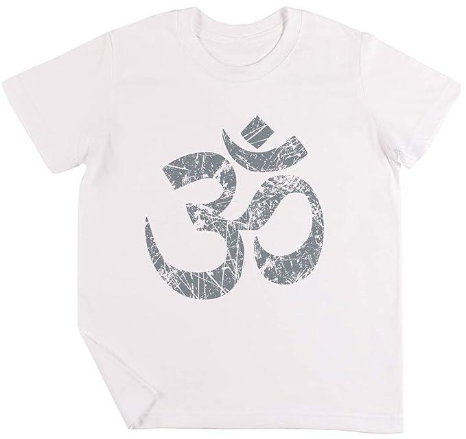 Om Yoga Espiritual Símbolo En Afligido Estilo Niños Chicos ...