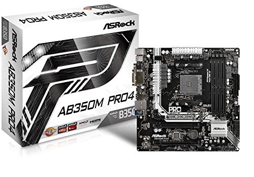 ASRock AB350M PRO4 MicroATX Motherboard by ASRock