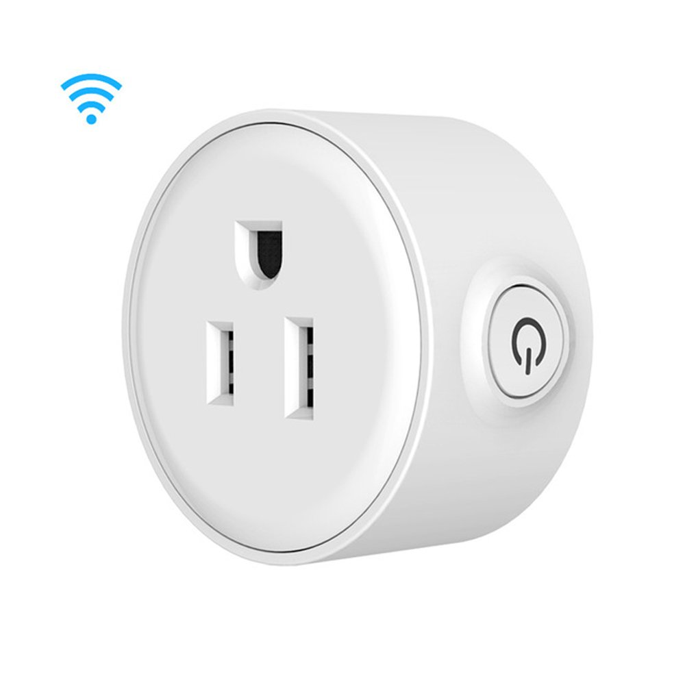 Smart Mini Wifi Plug Socket Outlet, Works with Amazon Echo Alexa Voice Control & Google Home | No Hub Required | iHome Timer Control Outlet | iPhone, Android Smart Phones Compatible by ENEGG (Image #1)