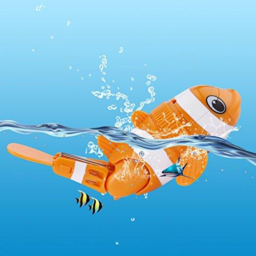 MARSPOWER Bath Toy, Waterproof Funny Cute Flexible Bathroom Bathing Tub Toys Killer Whale Diving Fish for Kids