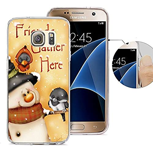 S7 Case Samsung Galaxy S7 Case Viwell TPU Soft Case Rubber Silicone Friends Gather Here Sales