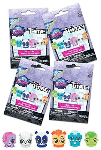 Tech4Kids Littlest Pet Shop Micro Lite Figure (4 Pack)