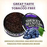Smokey Mountain Herbal Snuff - Grape - 5 Cans