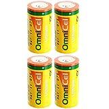 4x OmniCel ER26500HD 3.6V Sz C Lithium Standard Terminal Battery