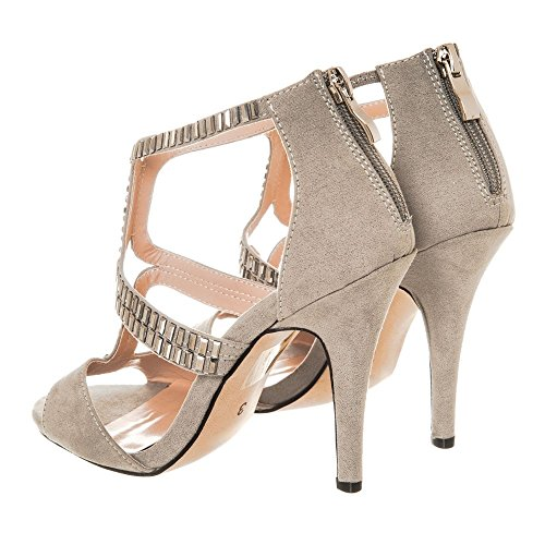 Grey Peep Diva Donna toe Miss nAIxv7