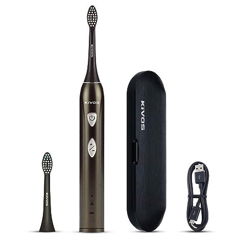 Kivos - Cepillo de dientes eléctrico recargable, con batería USB recargable y estuche de viaje