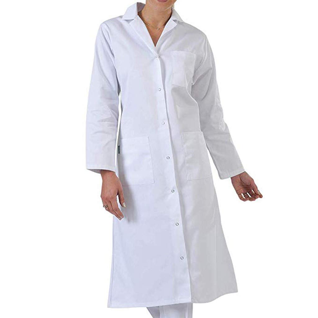 Vintress Women's Classic Professional Lab Coat (M-5XL, White) | Perfect for Healthcare, Labs, Schools and More (4XL, White)