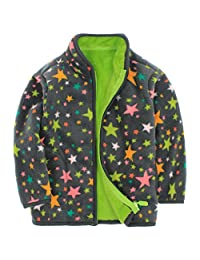 Boys Fleece Jackets Polar Coats Front Zip Spring Outerwear Kids Outfits