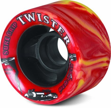 Sure-Grip Twister Wheels - Yellow/Red ()
