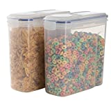 THETIS Homes Cereal Container 2 x Plastic Storage 4L (135.2 Oz) Watertight Dry Food Keeper 16.9 Cup (2)