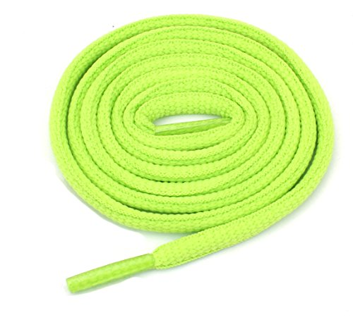 Green Charm Oval - Oval Athletic Shoelaces 1/4
