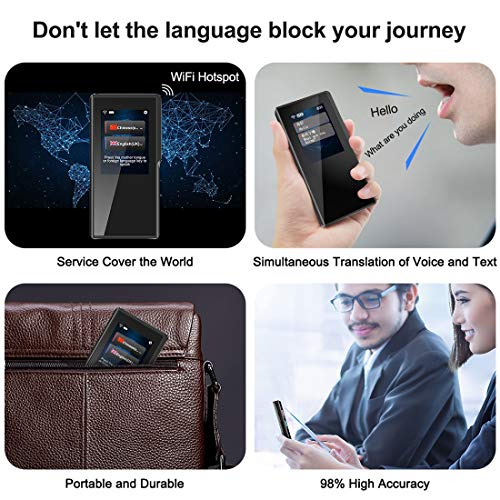 Birgus Smart Voice Translator Device with 2.4 Inch High Definition Touch Screen Support 70 Languages for Travelling Abroad Learning Shopping Business Chat Recording Translations by Birgus (Image #5)