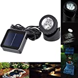 Xcellent Global Weatherproof Solar Energy Powered LED Spotlight Waterproof Outdoor LED Solar Spotlight Projector Projection Lamp for Yard Pool Pond Spot Lamp Light, Light Sensor LD054