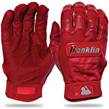 Franklin Sports CFX Pro Full Color Chrome Series Batting Gloves CFX Pro Full Color Chrome Batting Gloves, Red, Youth Medium